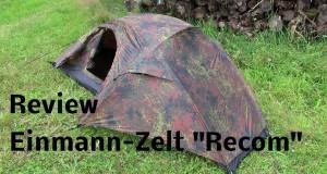 """Camping Einmannzelt """"Recom""""    Flecktarn   Review – ausführlich und in HD   Outdoor AusrüstungTV"""