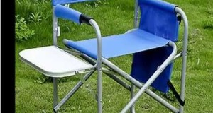 Check Blue Outdoor Camping sport Picnic Fishing Director Chair Fold Portable Product images