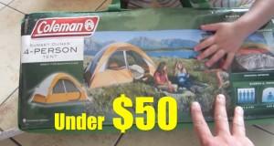 Kids Indoor Outdoor Camping Fun Coleman 4 Person Tent