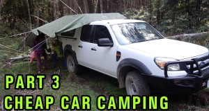 Cheap DIY Car Camping Setup, Part 3 – Yabby fishing in the rain