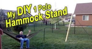 DIY 1 Pole Hammock Stand