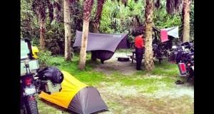 Motorcycle Hammock Camping Koreshan state park ADV