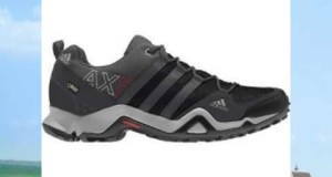 Adidas Outdoor AX 2 GTX Hiking Shoe – Men's Dark Shale/Black/Light Scarlet 9.0