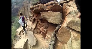 Angels Landing Zion's National Park Hiking Up Full Trail