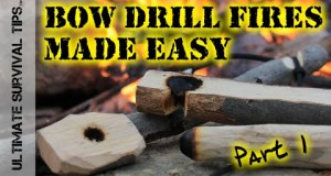 Bow Drill Fire – Part 1 – Make YOUR Kit – Step-By-Step Survival Bow Drill Training – How to / DIY