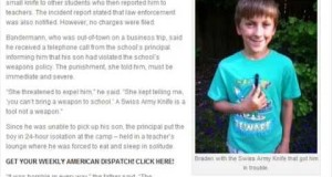 Boy Suspended For Bringing Swiss Army Knife On Camping Trip