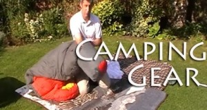 Camping Gear – Stuff a  large sleeping bag  into it's stuff sack