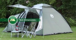 Coleman® Waterfall 5 Deluxe – Tunnel & Dome Tent for Family Camping