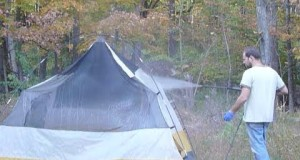 Complete tent repair. Fixing poles. Sealing seams. Waterproofing floor etc
