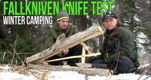Fallkniven Knife Test   Winter Camping