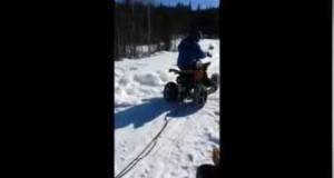 Fun on a Camping chair W/ a ATV