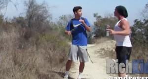 Hiking trail Murder PRANK!!!