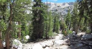 Hiking up Crystal Lake (Crag) Trail in Mammoth Lakes, California