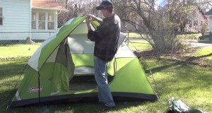 How to set up a tent for camping & a crazy little dog **Coleman Camping Tent**
