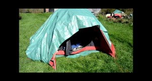 How to Winterize a summer tent to keep warmer in cold weather