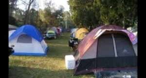 Motorcycle Tent Camping Daytona Beach Florida