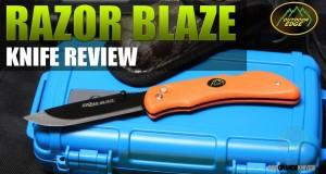 Outdoor Edge Razor Blaze Skinning Hunting Knife Review   OsoGrandeKnives