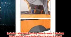 Ozark Trail 8 Person 2 Room Instant Cabin Tent Family Camping Outdoor Height74 – Orange