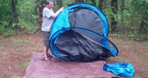 Quechua Waterproof Pop Up Camping Tent 2 Seconds +IIII, 4 Man Double Lining