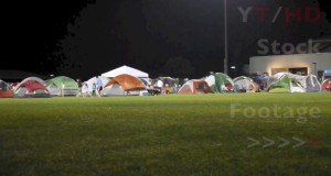 Small & Large Family Camping Tents From Pop Up to Cabin Tent at Local Park | HD Stock Video Footage